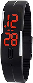 Touch Screen LED Black Sports Silicone Digital Wrist Watch