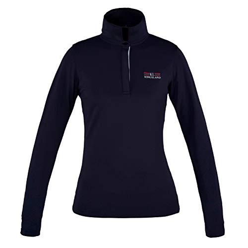 Kingsland Tec LS Pikee-Poloshirt für Damen Camilla langärmliges Damenshirt Größe M