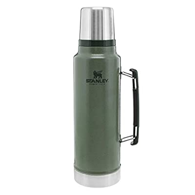 Stanley Classic Vacuum?Insulated?Wide Mouth?Bottle, 1.5 qt?- BPA-Free 18/8 Stainless Steel?Thermos?for Cold & Hot?Beverages???Keeps Liquid Hot or Cold for Up to 24 Hours??