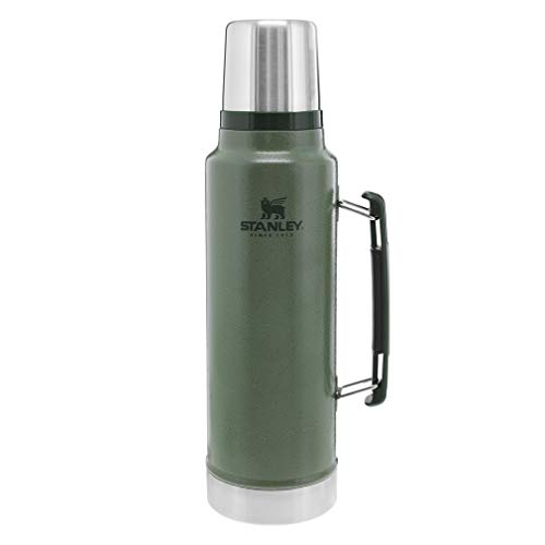 Stanley Classic Vacuum Insulated Wide Mouth Bottle, 1.5 qt - BPA-Free 18/8 Stainless Steel Thermos for Cold & Hot Beverages – Keeps Liquid Hot or Cold for Up to 24 Hours –