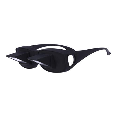 ULTNICE Faule Brille Prisma Bett Brille Horizontale Brille Faule Brille Hinlegen Brille zum Lesen Fernsehen