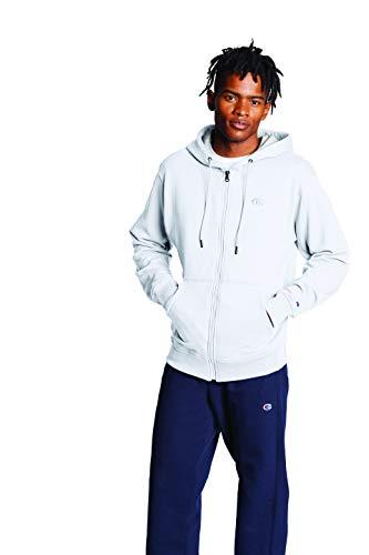 Champion Herren Powerblend Full-zip Hoodie Jacke zum Aufwärmen oder Laufen, Weiß, X-Large