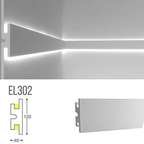 Stuckleiste Wandleiste Deckenleiste Lichtleiste für indirekte LED Beleuchtung - EL302 Eleni Lighting Italy - 1,15m
