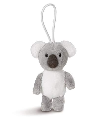 NICI 43614 Anhänger Koala mit elastischer Schlaufe, 8 cm, grau/weiß