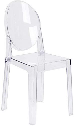 1 Inchhome Ghost Chair Esszimmerstühle, transparent, Geisterstuhl, modern, nicht stapelbar, 1 Stück