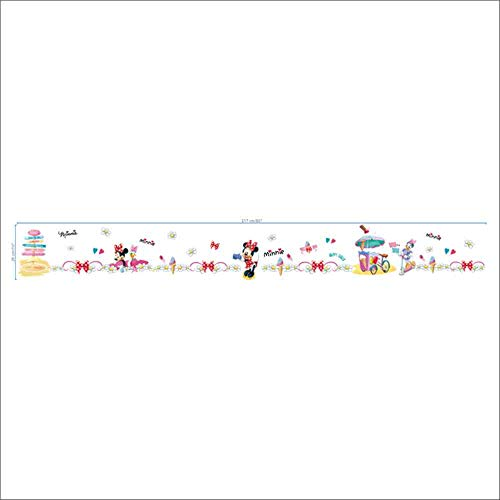 JPDP DIY MickeyMinnie Daisy Ente Sockelleiste dekorative Kinder Baby Kinderzimmer Wandaufkleber Abziehbild Dekor Wandbild Poster Geschenk