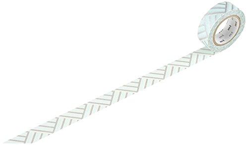 MT Kamoi Kakoshi KMMT-MKT1PD-DZ Ruban de Masque Japonais Repositionnable Papier Adhésif à Base de Fibres Végétales Bleu/Gris 1000 x 1,5 cm