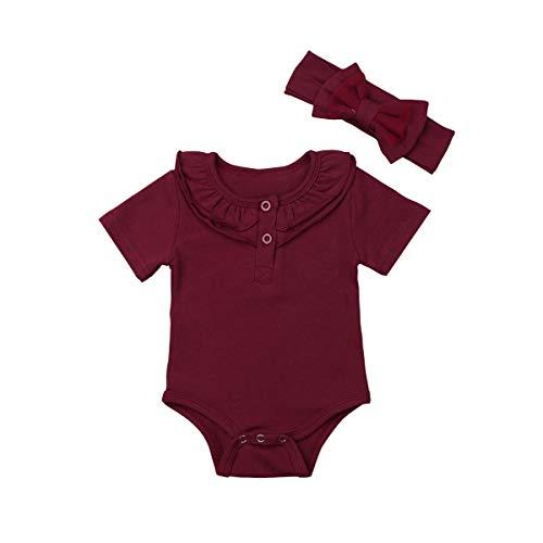 Bodies para bebês meninas, Vinho tinto, 6-12 meses