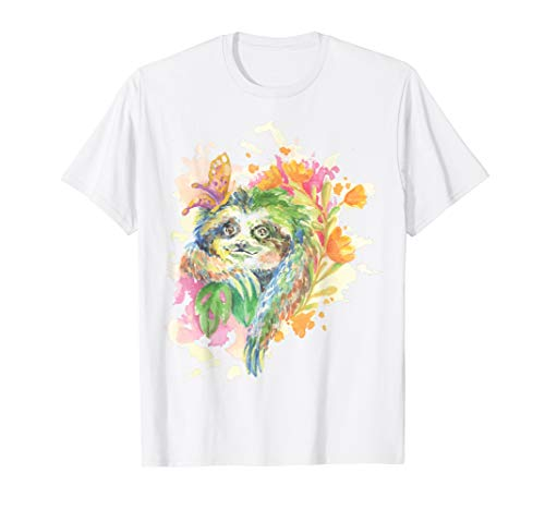 Sloth Watercolor T-Shirt