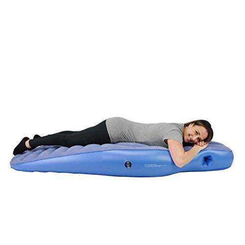GNXTNX Aufblasbare Schwangerschaftsmatratze, Mutterschaftskissen Zum Schlafen, Ganzkörper-Kissen Schwangere Massage Bett Taille Kissen, Pool Float Yoga Matte Mit Elektrischer Luftpumpe,Blau