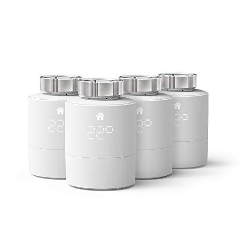 tado° Smartes Heizkörper-Thermostat - Quattro Pack, Zusatzprodukte für Einzelraumsteuerung, Einfach selbst zu installieren