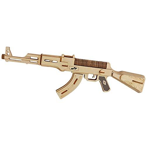 Puzzles Rompecabezas De Pistola De Madera 3D Ak47, Modelo De Construcción De Metralleta, Rompecabezas De Corte Láser Diy, Juguete Educativo, Regalos Para Niños
