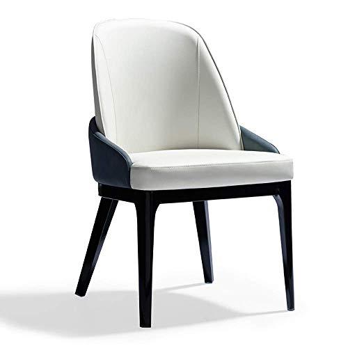 Accesorios de decoración Silla de comedor 2 sillas Silla de comedor de madera maciza Restaurante Silla de hotel Mesa de negociación y silla para comedor Sala de estar Cocina Dormitorio (Color: Blan