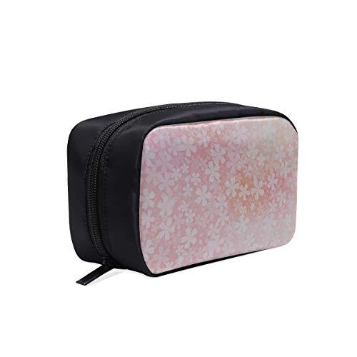 Sacs de cosmétiques pas cher Glitter romantique rose fleurs de cerisier Tolietry Travel Bag Women 1 Trousse de maquillage Trousse pour tout-petit Sacs à cosmétiques Multifonction Etui Trousse de toil