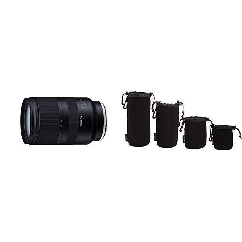 Tamron A036SF 28-75 mm F/2.8 Di III RXD-Autofokus – ideal für Videoaufnahmen AmazonBasics - Wasserdichte Schutzbeutel für Kamerobjektiv