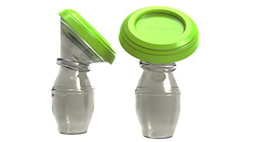 Tiralatte in silicone – 100% per uso alimentare, manuale a mani libere, collettore in silicone, pompa per allattamento rapido