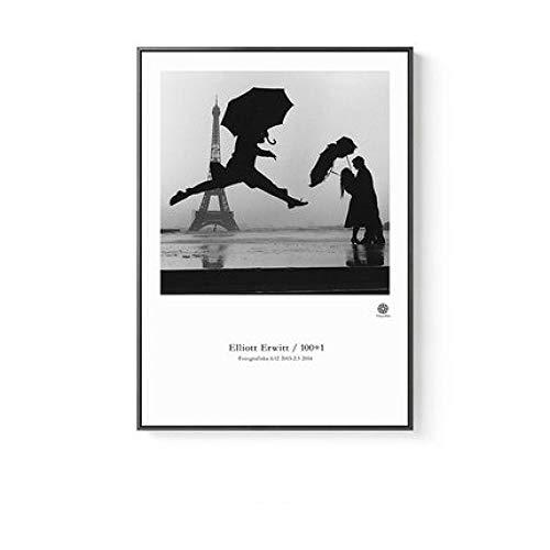 LiMengQi2 Nordische Feder geometrische Abstraktion Leinwand Malerei Figur Drucke Poster Wandkunst Bilder für Wohnzimmer Morden Home Decor (No Frame)