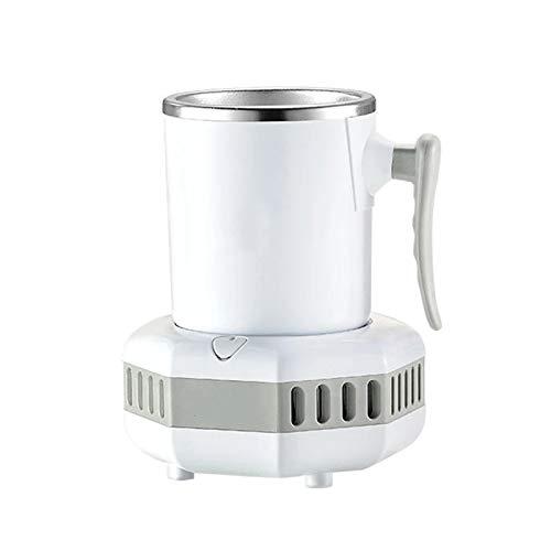WZCXYX Mini Refrigerador Eléctrico Taza De Enfriamiento Rápido Refrigerador De Agua Leche De Cerveza Café Bebida De Té De La Placa De Enfriador Rápida con La Taza(Color:Blanco)