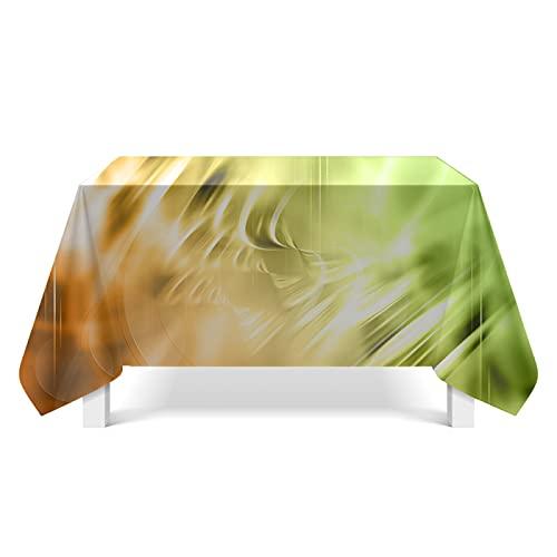 CYYyang Cubierta de Mesa Lavable Resistente al Aceite, Arte de ilustración de Textura Ligera