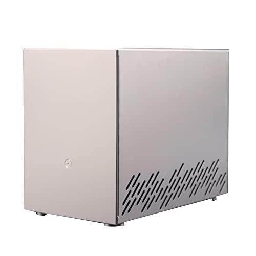 WSNBB Estuche para PC para Juegos,Mini Estuche De Aleación De Aluminio,Carcasa Plateada para Juegos ITX SFX,277 * 159 * 220 Mm
