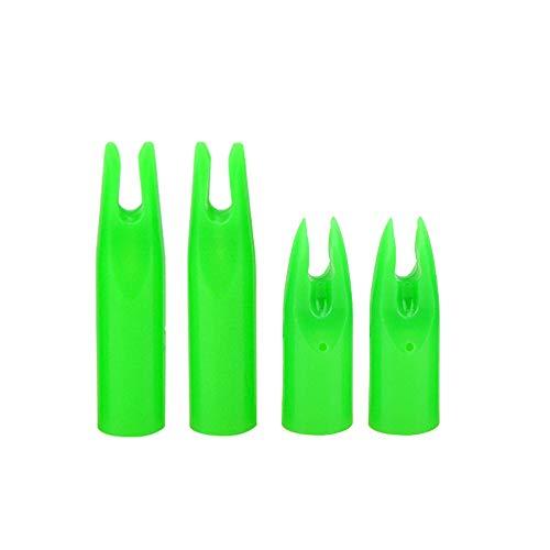 ZSHJG 50pcs Tiro con Arco Nocks de Plástico para Flechas Caza Pegamento en Flecha Nocks Envolver Flecha Nocks El Plastico Pin Nock para OD 6mm 7mm (Verde, ID: 7mm)