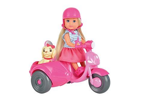 Simba - Evi Love Scooter - Mini Poupée 12cm - Side-car + Chien - Casque Inclus - 105736584