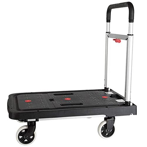 Z-SEAT Utility Carts Big Wheels Einkaufswagen Leichte und vollständig Faltbare Plattform-LKWs, Rutschfester Schwerer Einkaufswagen, multifunktionaler Outdoor-Utility-Wagen,