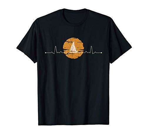 Barco de vela Latido del corazón Capitán Marinero Regalo Camiseta