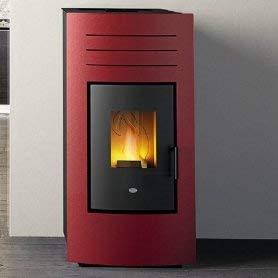 Eva Calòr Hydro 24 - Termostato de estufa y caldera de pellets: color negro