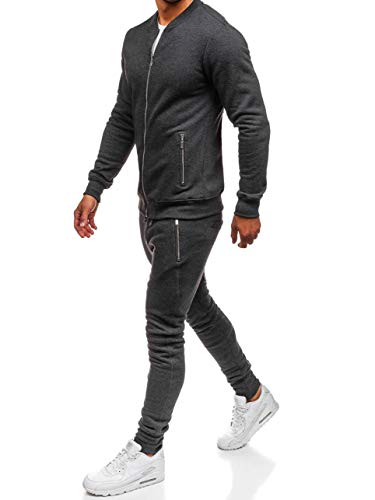 BOLF Herren Jogginganzug Trainingsanzug Trainingshose Sportanzug 43S Anthrazit M [8H8]