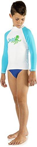 Cressi LW476902, Camiseta Para Niños, Azul (Octopus), XL/5 (talla del fabricante:12-13 años)