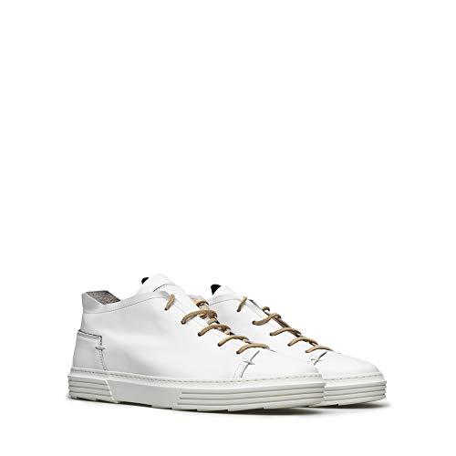 MOMA Herren Sneakers 4AS054-NA Nausica Bianco Leder Weiss