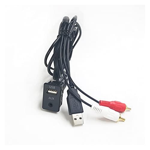 XINLIN Ruderude 15 0CM / 100CM DIY Extender la extensión del automóvil del Adaptador RCA USB Adaptador USB/AUX Panel Ajuste para Toyota Mitsubishi Nissan (Color : 150CM)