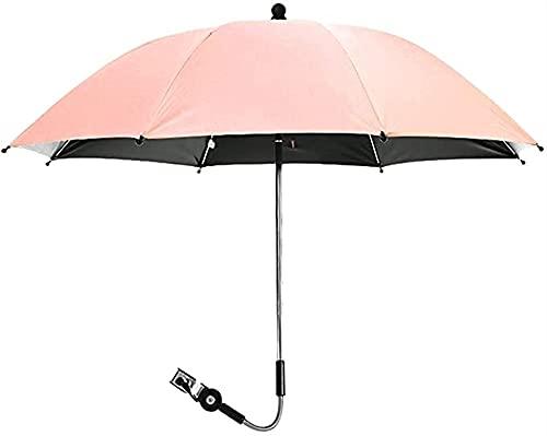 LIUPING Paraguas para Cochecito De Bebé 75cm / 85cm De Diámetro Parasol Universal Buggy Cochecito 50+ Protección Solar UV con Asa De Paraguas (Color : Pink, Size : 85cm)