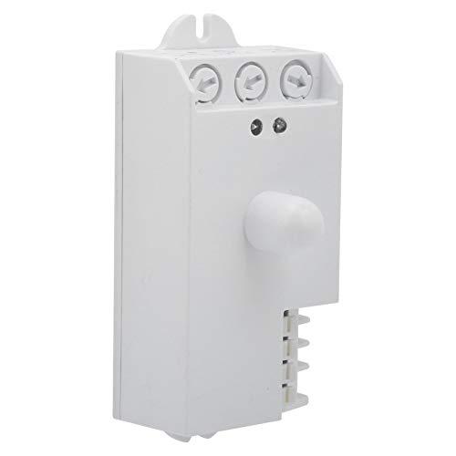 Interruptor de sensor de microondas, TDL-1913 5.8GHz AC85-250V Interruptor de luz con sensor de movimiento, Blanco puro, Interruptor de detector de movimiento de larga distancia, Reemplazo de microint