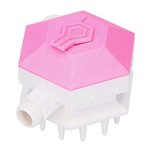 ViaGasaFamido Cabezal de Ducha Suave para Mascotas, Kit de baño para Mascotas, Boquilla de Ducha de Mano, válvula de Control de Flujo de Agua Ajustable(Rosa)