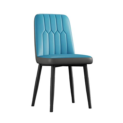 N&O Esszimmerstühle Retro Lounge Beistellstühle Weiches PU-Leder Gepolstertes Sitzpolster Mit Starken Metallbeinen Küche Café Büro (Farbe Dunkelgrau Größe Goldene Fußabdeckungen)