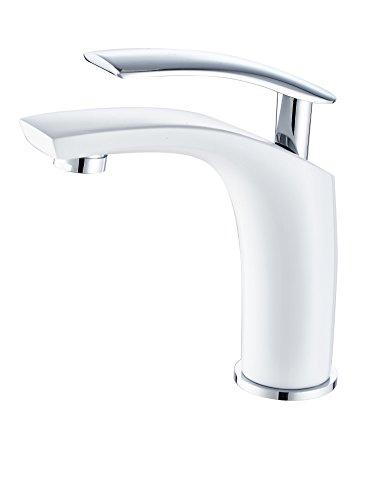 DP Grifería - Grifo monomando de lavabo en color blanco,modelo Abeto