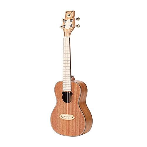 Soprano Ukelele 23 Pulgadas 6 Cadena Ukelele con Bolsa Profesional Caoba Mini Ukalalee Hawaiano Pequeño Guitarra 4 Cuerdas Ukelele Viaje (Color : BL-C30 Plywood)