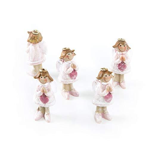 Logboek-uitgeverij kleine beschermengel figuren mini engel roze m. heilige bon gastgeschenk give away geschenk doop communie vormsel meisje decoratie Kerstmis