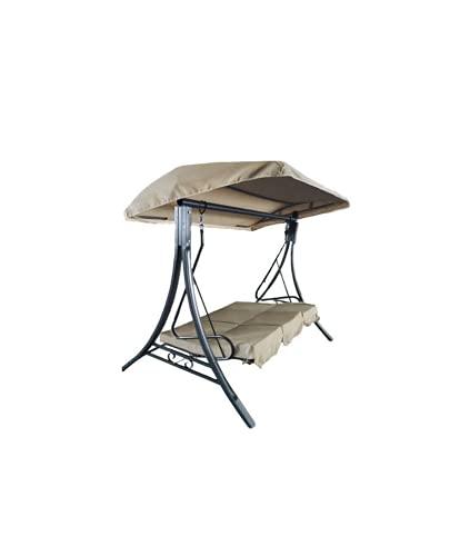 Gazebo Dondolo Letto da Esterno, struttura in solido ferro. Adatto per Giardino, Patio o Spazio Esterno. (190x170x110 cm)