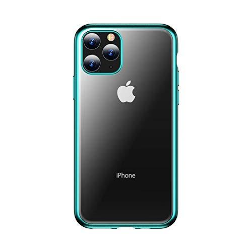LWL House Case for iPhone 11 Pro Concise Series Funda Protectora de TPU electrochapable a Prueba de Golpes Durable (Color : Green)