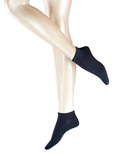 ESPRIT Damen Sneakersocken Uni 2-Pack - 80prozent Baumwolle, 2 Paar, Blau (Marine 6120), Größe: 35-38