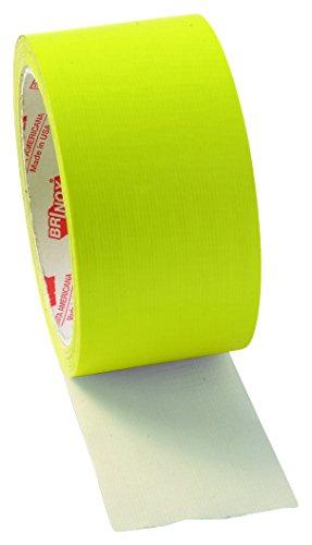 Brinox B61110A Cinta americana, Amarillo fluorescente, 50 mm x 10 m