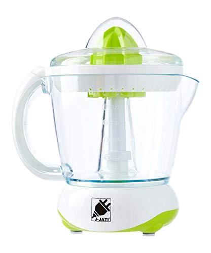 J-Jati Citrus Juicer Extractor: Compact Juicer for Healthy Juice, Oranges, Lemons, Limes, Grapefruit & other Citrus Fruit with Easy Pour Spout + 32 oz Pitcher White