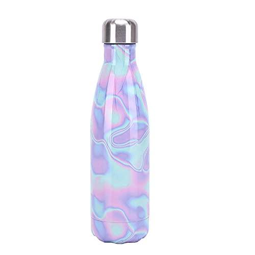 Botella de agua de cielo estrellado de acero inoxidable Frascos de vacío de doble pared con aislamiento Botella de bebidas Mantener 12 horas caliente y 24 horas a prueba de fugas en frío BPA Free