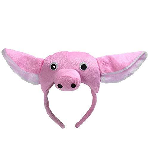 Team99 - Diadema sper suave para orejas de cerdo para la nariz y la cola de Halloween, accesorio para disfraz, diseo de cabeza de cerdo, color rosa