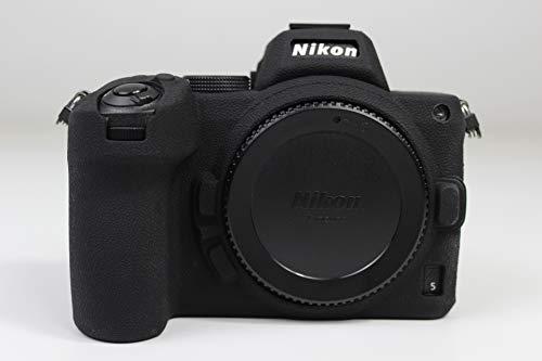 Z5 Case, Zakao - Funda de silicona suave ligera y delgada de goma protectora para cámara digital Nikon Z5 (negro)