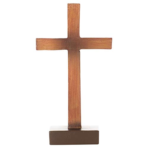 Dicksons Hang It On The Cross Wood Appearance 4 x 6 Resin Tabletop Cross