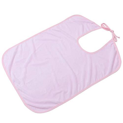 HEALLILY Babero para Adultos Delantal de Espalda de Lazo Grande Toalla de Saliva Lavable Protector de Ropa Reutilizable Paño de Comer para Ancianos Y Discapacitados 70X50cm